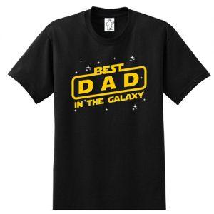Best Dad In The Galaxy   Tall Dad Shirt