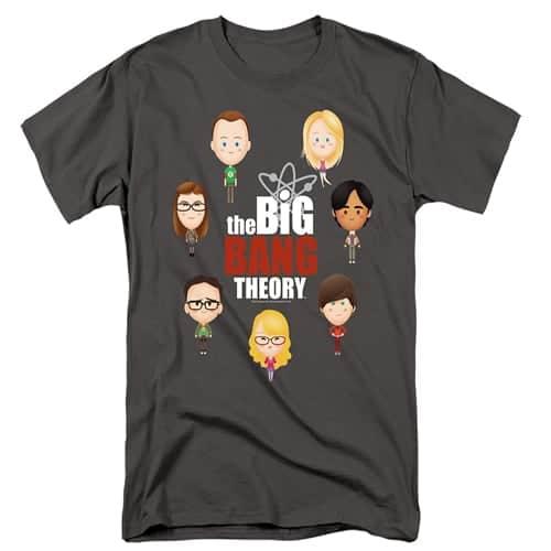 Big Bang Theory Emoji Tall Shirt