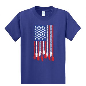 USA Flag Guitar Tall Shirt